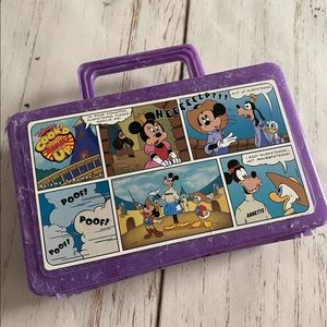 🌻 Vtg  Disney Cooked comic up pencil snack box